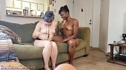 DADDY'S BLACK & WHITE GIRLS COCK WORSHIP TOGETHER POV FACIAL CUMSHOT - CARLA AND CANDI - AFROSENSUALCARLA.COM