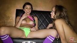 GIRLS GONE WILD - Teen Club Girls Liza & Olivia Cream Each Other