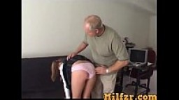 Sweet teen daughter punished by daddy