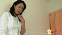 Asian nurse threesome interracial anal fuck and DP filling ass pussy and mouth