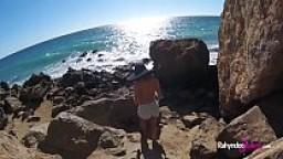 Rahyndee James beach fucking POV