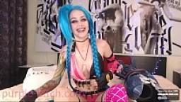 Get Jinx! Cosplay! purple-bitch.com/chaturbate (livestream 05.10.17)