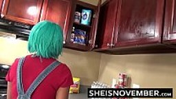 My Young Step Sister Sheisnoveber Gets Fucked & Blowjob Love In The Kitchen & Sex
