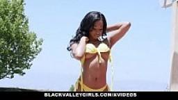 BlackValleyGirls - Peeping Tom Fucked By Cute Black Teen