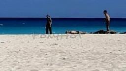Mostrando el culo en tanga por la playa y calentando a hombres, solo dos se animaron a tocarme, video completo en Xvideo