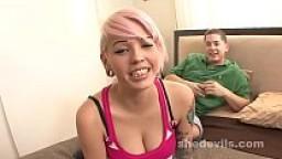 Big tits punk girl sticky facial