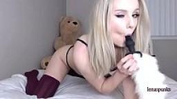 LENASPANKS   Horny Kitty Cam Girl, Anal, Buttplug Tail