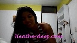Heatherdeep.com HD heather Deep 1st ever and cum deep in throat and swallow