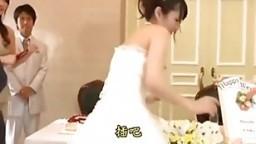 bride get fuck in wedding party