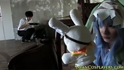 Teen cosplay cocksucking with a teen yoshino
