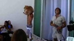 Group Of Girls Blow the Dancing Bear