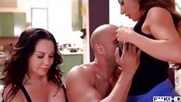 Pool boy bangs big tits of Dayton Rains & Richelle Ryan in milf threesome