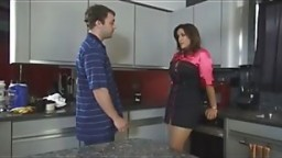MOM GETS AROUSED WHEN SON MAKES A PASS AT HER..