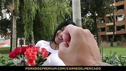 CARNE DEL MERCADO Busty Colombian flaunts curves and gets banged hard