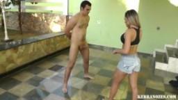 Ballbusting - Hot Brazilian Girl