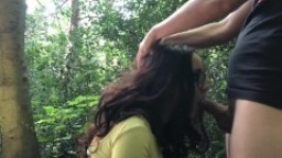 Young teen girl in the forest- Anal Fuck, Deep Throat, AssToMouth
