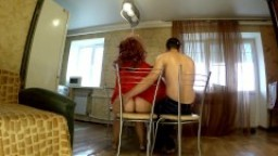 Son fucked stepmom in anal when he watched TV. Mother big ass anal blowjob