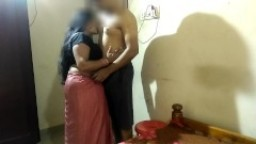 Indian Newly Married Couple First Night Sex In Saari