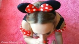 Pretty girl was fucked hard! Sex in a costume of minnie mouse - Emma Lovare