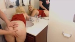 Curvy Blonde Teeen Gets Bent Over The Sink