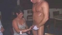 Stripper gets a foot job