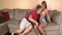 Perky teens pussy gets licked and fucked