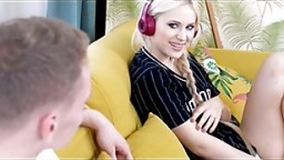 GIRLSRIMMING - Hot step-siblings rimming with petite blonde teen Nikki Hill