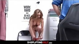 Big Ass Big Tits Blonde MILF Makes Fuck Deal With Officer After Caught Shoplifting Jewelry