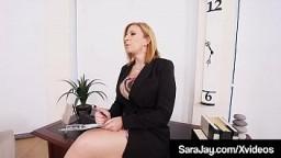 Famous Sex Fiend Sara Jay Gets Dick With Big Black Maserati!