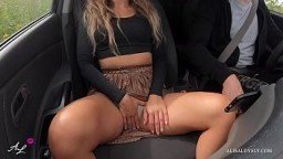 Gorgeous Girlfriend Fuck in Car Front Seat with Perfect Big Ass