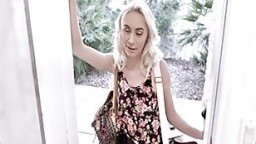 Tiny Blonde Teen Stepdaughter Sex With Stepdad After Showing Up At Doorstep