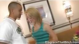 Disgrace That Bitch - Slut gets a rough goodbye fuck