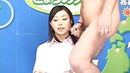Japanese newscasters get their chance to shine on Bukkake TV.